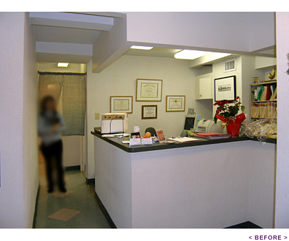 Chiropractic Office - Reception Before